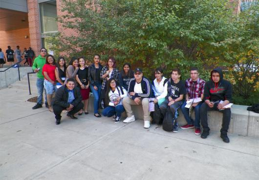 Group photo taken with students attending College Fair