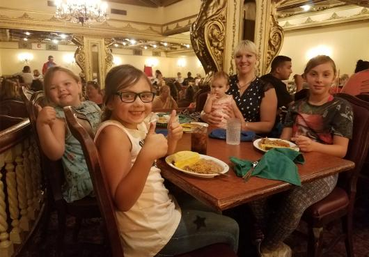 A HOPE family at the Casa Bonita Summer Fun Event 2018