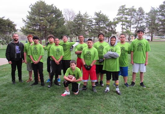 HOPE middle school flag football team from I AM Academy