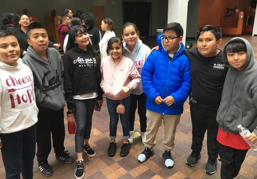 HOPE students touring the Denver Museum of Nature and Science