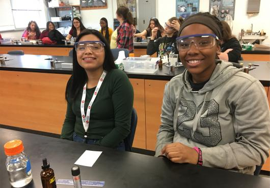 Action High Students at a Science Day at Aurora Community College