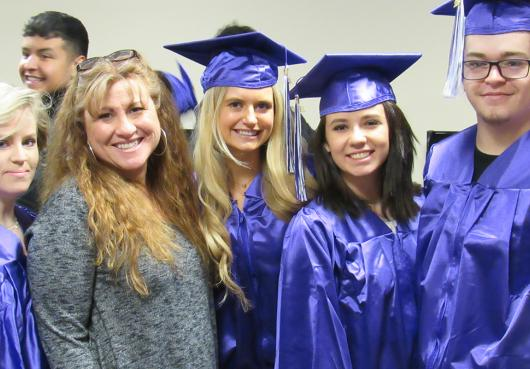 HOPE graduating seniors with their Learning Center Director