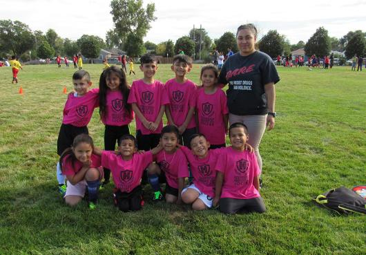 One of HOPE's elementary soccer teams